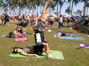 AcroYoga Action At Yoga Fest!