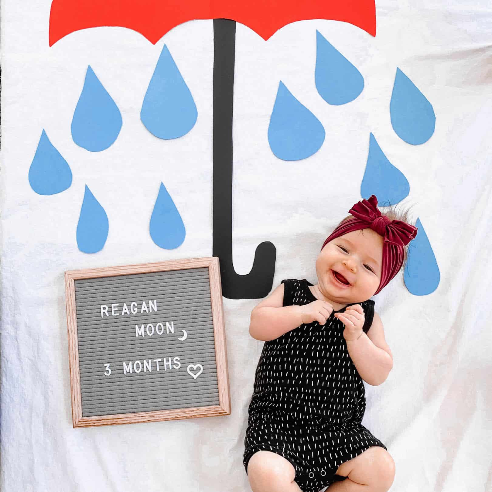 Diy Budget Friendly Monthly Baby Photo Idea April The Confused Millennial