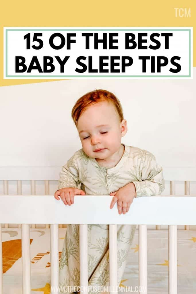 15 Of The Best Baby Sleep Tips You Need To Hear, baby sleep schedule training, baby sleep through the night, transitioning baby to sleep in crib from bassinet without a sleep sack or swaddle, newborn sleep hacks, tricks for navigating sleep regression in babies, sleep routine, what to do if baby sleeps on stomach, baby sleep problems at 4 month and 7 months, #babysleep, #newmom, #babysleeptips