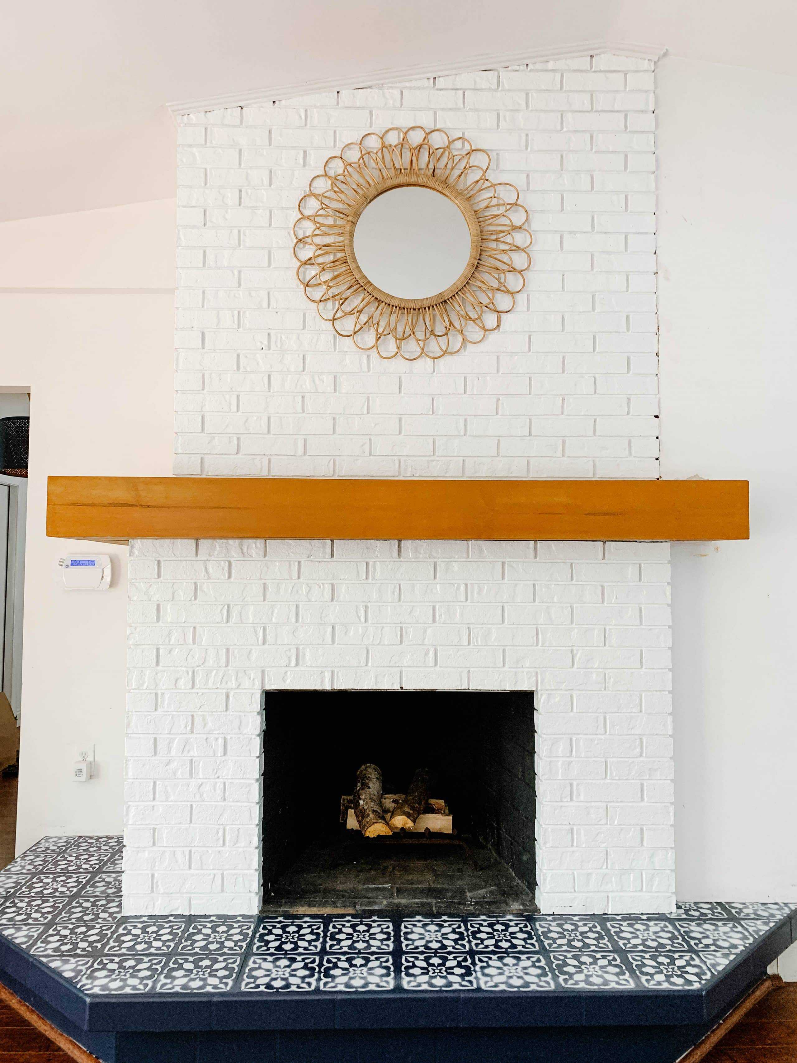DIY Fireplace Makeover: How To Strip & Stain Fireplace Mantel Before & After, fireplace mantel makeover, diy fireplace mantel over brick, retaining fireplace mantel, stripping wood mistakes, fireplace mantle ideas, retain wood mantle, how to strip wood stain, #fireplacemakeover, #fireplacebeforeafter, #fireplaceremodel, #honeymantel, #woodmantel, #mantelideas, #mantelideas, mantel ideas