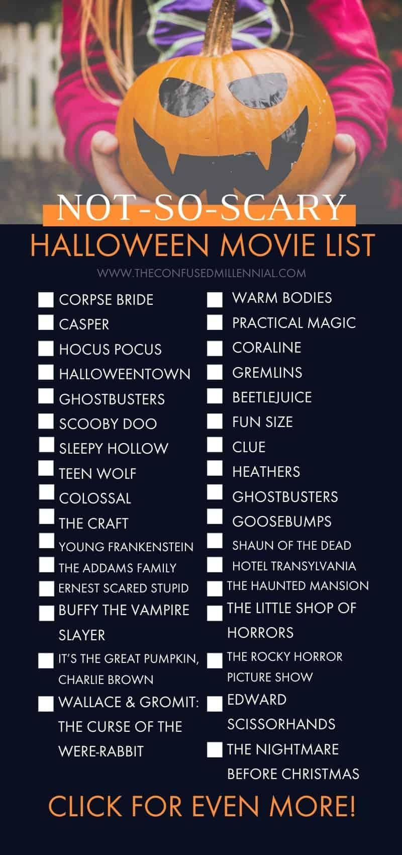 halloween movies to watch, #halloweenmovies, spooky movies, not so scary halloween movies