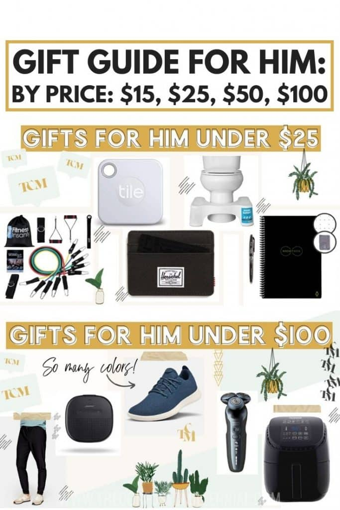 Best Gifts For Men 2020: Father's Day or Christmas Gift Guide For Him, gift ideas for boyfriend or husband or dad, gift ideas for man under $15, $25, $50, $100, father's day gift ideas, christmas wish list for men, how to shop for a man who has everything, #giftguideforhim, #giftguide2020, #giftguideboyfriend, #giftguidehusband,