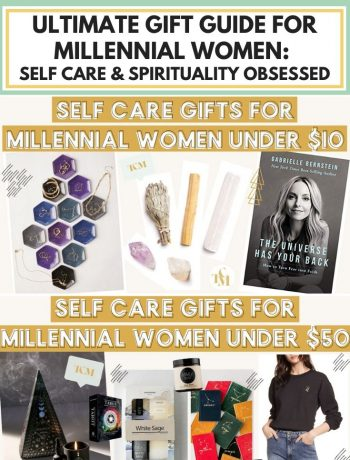 Ultimate Gift Guide For Millennial Women: Self Care & Spirituality Obsessed, best christmas gift ideas for women in their 20s or in their 30s who have everything, inexpensive and creative gifts you can buy or DIY for a secret santa, top 10 cheap and last minute and unique gifts for millennial women by price point: under $10, under $25, under $30, under $50, and under $100, self care gift ideas for spirit junkies, mystics, woo woo obsessed, #giftguideforwomen, #giftguide