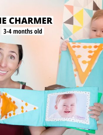 "Wondering if the Lovevery play kits are worth it? Here are all my thoughts on ""The Charmer"" playkit from #lovevery for 3-4 months old babies. First time moms looking for montessori and waldorf based wooden toys to support their newborn baby in reaching those milestones during the fourth trimester. growth and development. Is it the best montessori based subscription kit for 1 month infants? Find out if it's right for your newborn baby and you in this post! #lovevery #thelooker #montessoritoys #1month #baby"