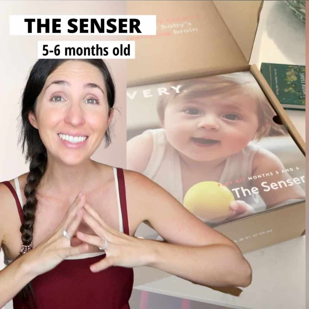 "Wondering if the Lovevery play kits are worth it? Here are all my thoughts on ""The Senser"" playkit from #lovevery for 5-6 months old babies. First time moms looking for montessori and waldorf based wooden toys to support their newborn baby in reaching those milestones during the first year for growth and development. Is it the best montessori based subscription kit for 1 month infants? Find out if it's right for your newborn baby and you in this post! #lovevery #thelooker #montessoritoys #1month #baby"