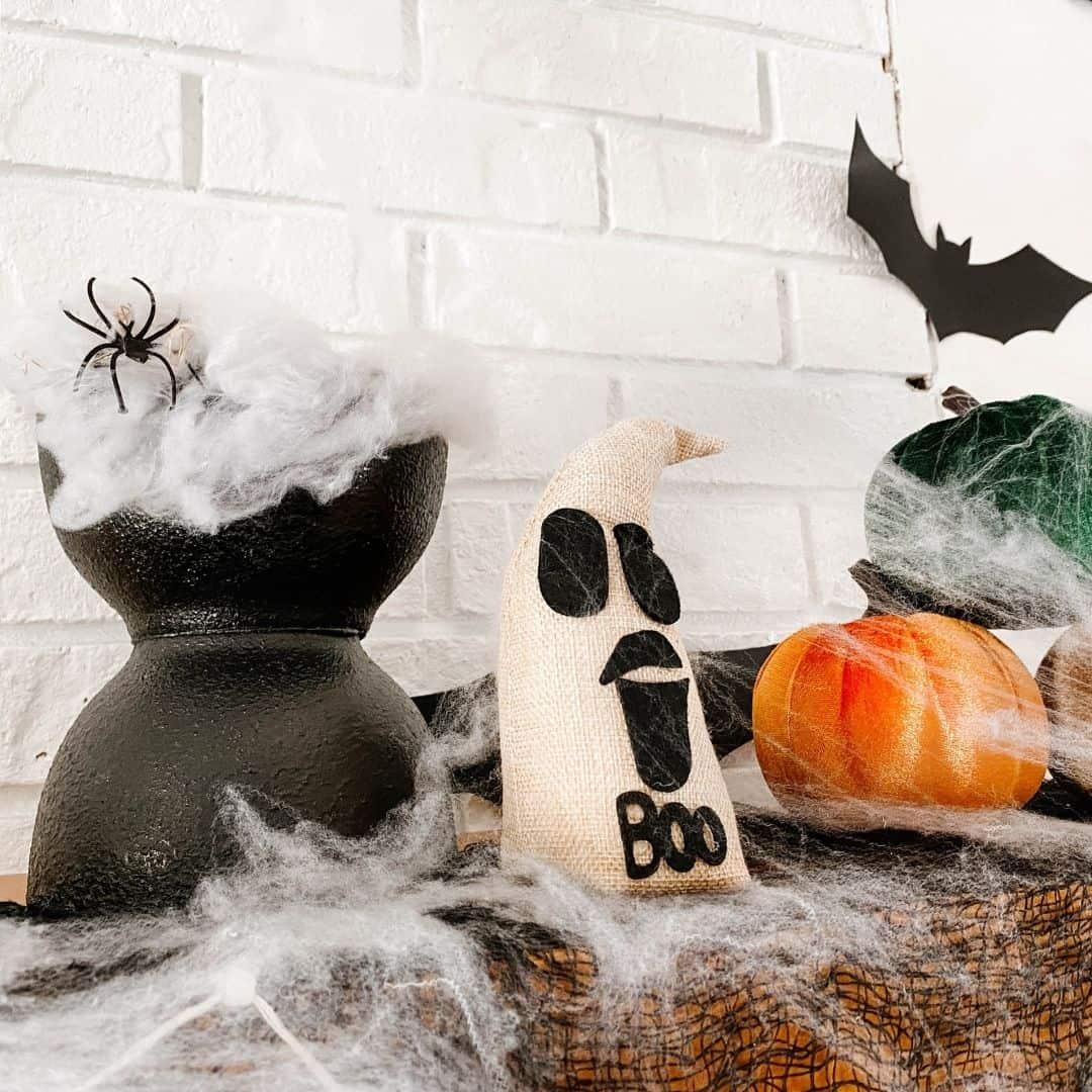dollar tree halloween diy spooky vase from bowls
