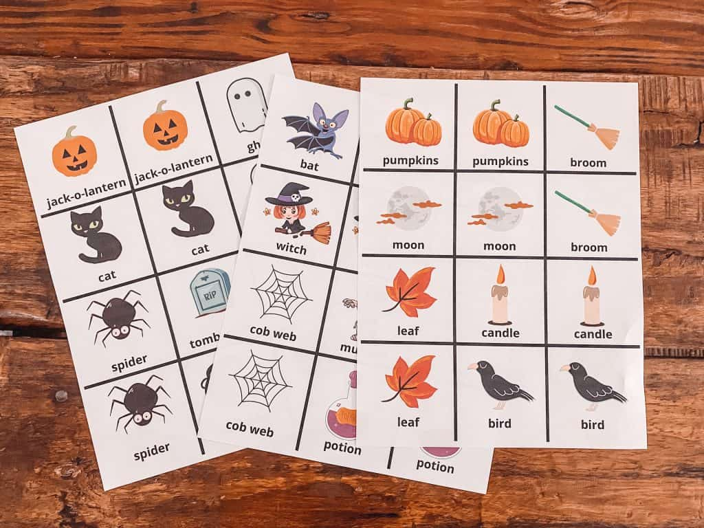 Halloween Memory Game Matching For Toddlers