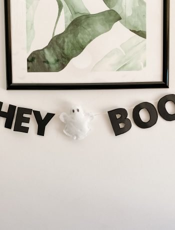 hey boo diy banner