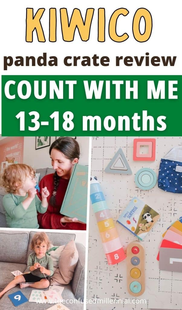 Is the KiwiCo Panda Crate worth it? Sharing all of my thoughts on the Count With Me box for 13-18 month olds learning number sense via montessori inspired toys from this toy subscription service! Plus a discount code on your first crate. Great gift for babies and toddlers this year!