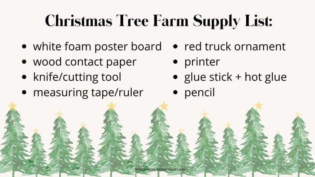 Christmas Tree Farm Sign Craft Supply List_ (1)