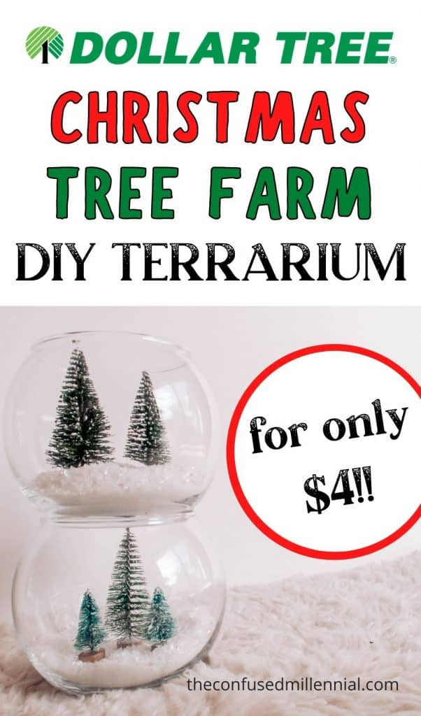 For our 2020 Holiday decor I opted for a Christmas Tree Farm theme for all my Dollar Tree Christmas crafts! This cute little DIY Christmas Tree Farm Terrarium is totally customizable and perfect for a vertical display to lift the eyes up. Even better? It's SO easy to make! Beginner crafters and kids will have so much fun making this DIY while watching 50+ Of The Best Christmas Movies To Watch This Holiday Season!