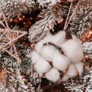 DIY Cotton Ball Ornament | Hobby Lobby Dupe Using Dollar Store Supplies