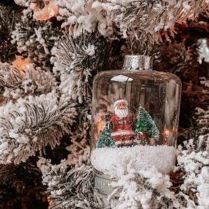 DIY Santa Globe Ornament | Pottery Barn DUPE using Dollar Tree Supplies