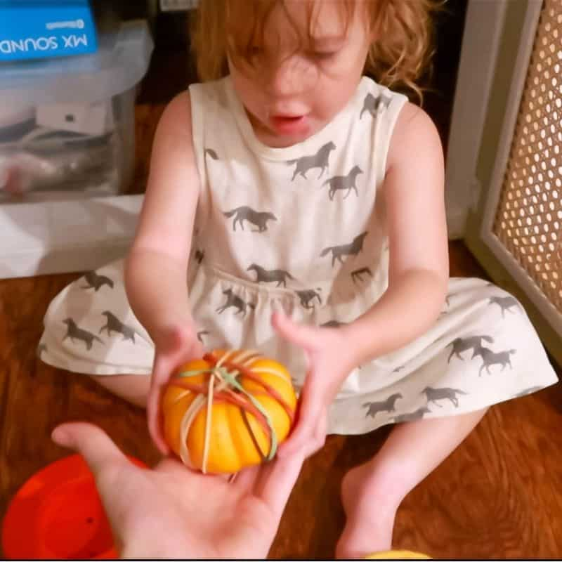 pumpkin fine motor activity for toddlers