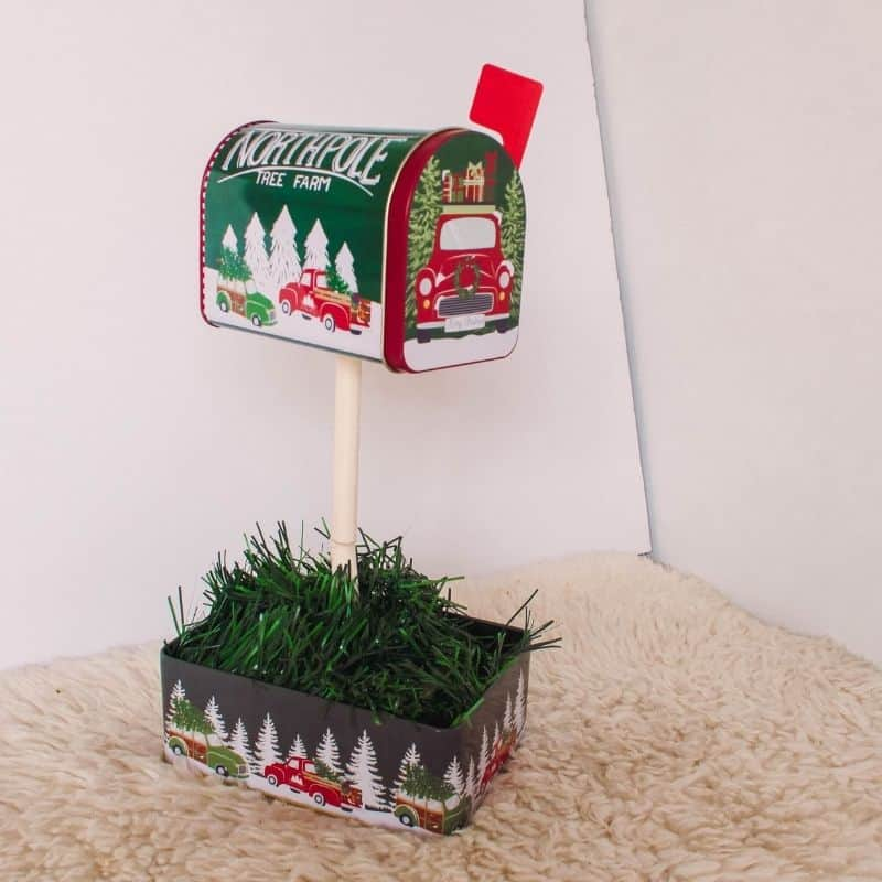 How Do You Make A Christmas Mailbox For Under $5? Dollar Tree Holiday Hack