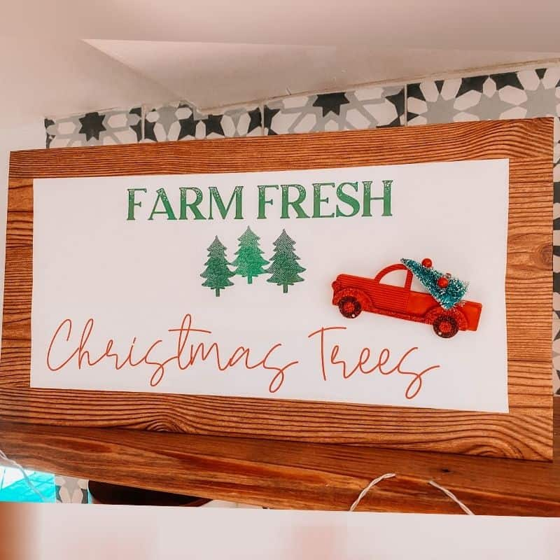 How To Make A Christmas Tree Farm Sign Using ONLY Dollar Tree Supplies   Holiday Decor Hack