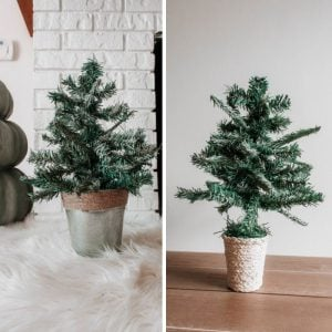 Dollar Tree Mini Christmas Tree DIY: 3 Tabletop Tree Hacks You Need! tabletop christmas tree