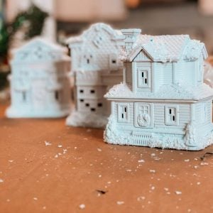 Dollar Tree Christmas DIY: White Christmas Village
