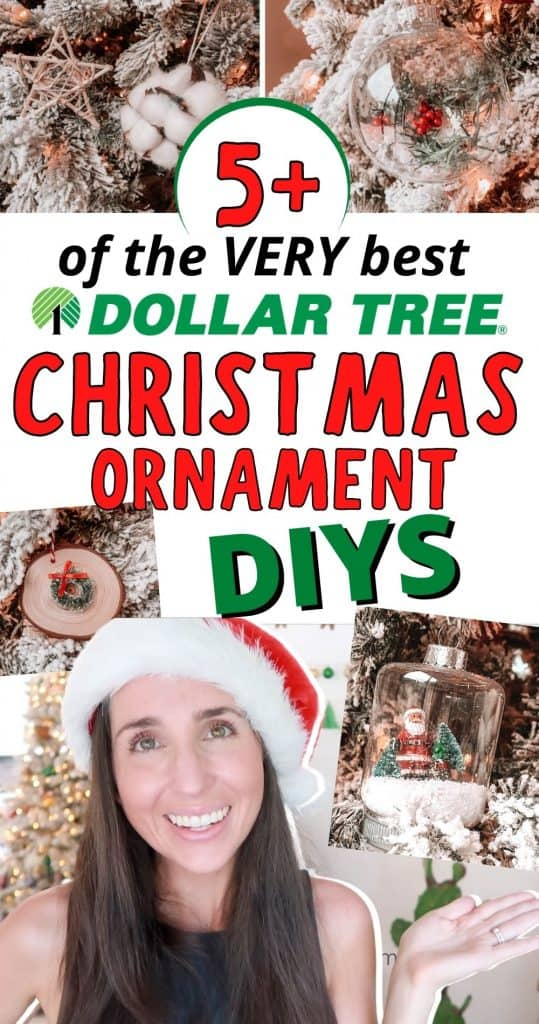Looking for EASY Dollar Tree Christmas Ornaments to DIY by yourself or with kids this year? Look no further! I've rounded up the BEST dollar store DIY christmas decor ideas to add to your tree. These require no skill, very little time, and can be made for just ! Who doesn't love  Christmas Ornaments?!? Especially one's that look as high end as these!