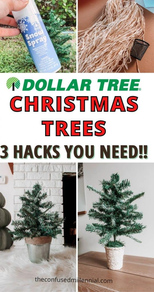 Wondering what the BEST Dollar Tree Mini Christmas Tree Ideas are? Look no further! I'm sharing 3 of the best kept secrets for creating the perfect tabletop christmas tree this holiday season! These work perfectly for a farmhouse or or rustic boho finish to your holiday decor! Let me know which of these dollar tree mini christmas tree ideas is your favorite!