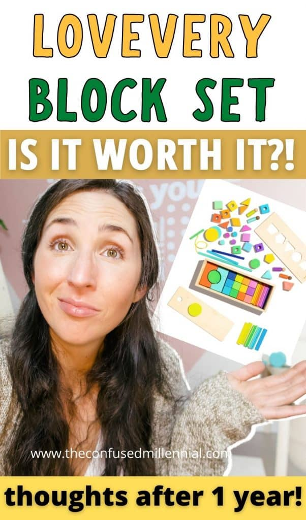 Is The Lovevery Block Set Worth It?  In this review, I share my thoughts as a mom who has had it for 1 year!  Plus a youtube video of my daughter playing with it and a look at how it compares to other montessori block sets like Grimms and Melissa and Dougs.  What's the best Waldorf block set ?!  You will walk away from this post knowing!