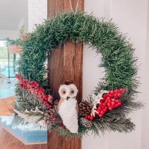 DIY Woodland Dollar Tree Christmas Wreath: Only $6!!!