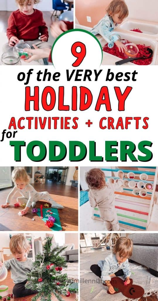 Looking for the very best holiday activities for toddlers? Look no further! Your preschooler will LOVE doing these indoor activities at home this Christmas season! BONUS: for moms - all the supplies are from the dollar tree or cost under $1 AND take under 3 minutes to set up! No mess toddler fun? YES PLEASE!