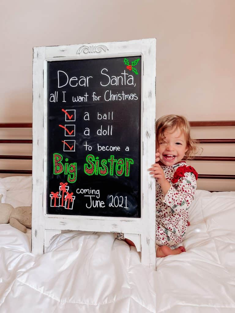 christmas pregnancy announcement for baby number 2
