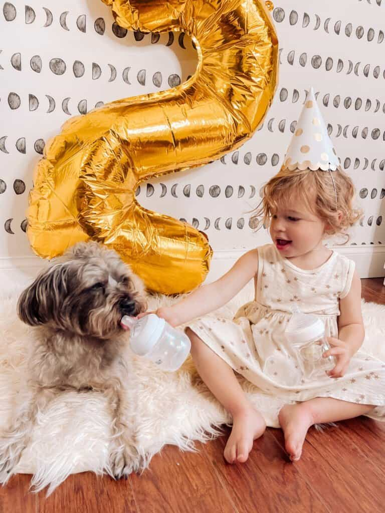 Sharing this super simple photoshoot for my daughter's 2nd birthday - including her practicing for her upcoming big sister duties! plus a letter to 2 year old daughter! Enjoy these easy Second birthday photo ideas!