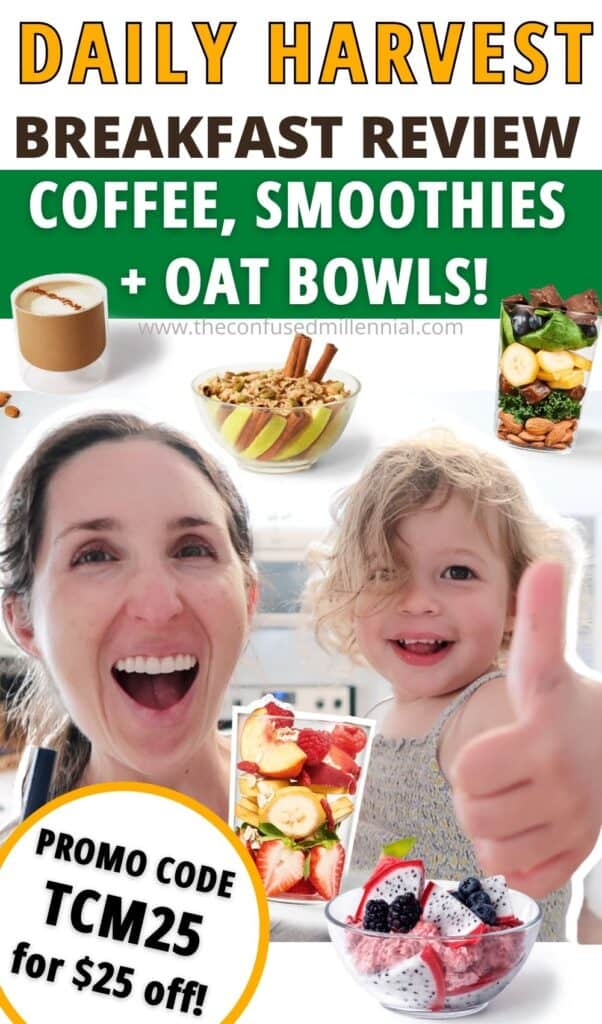 Wondering if Daily Harvest breakfast options (smoothies, oat bowls, and coffees) are worth it or any good? I'm reviewing which Daily Harvest smoothie recipes taste any good, how the daily harvest oat bowls taste, and what's the best DH coffee.