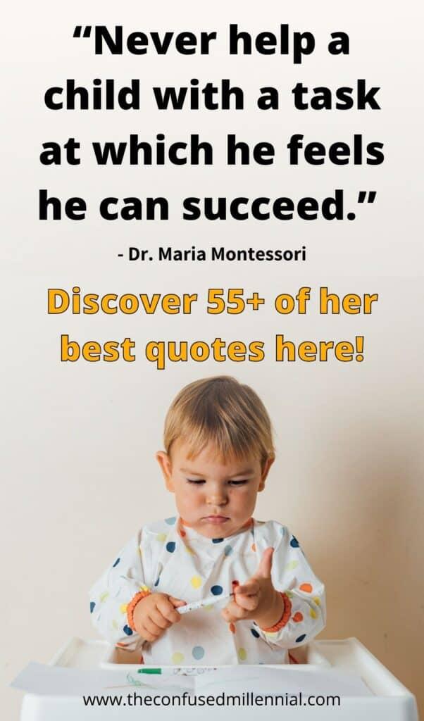 best maria montessori quotes for parents practicing montessori at home or choosing a montessori education!