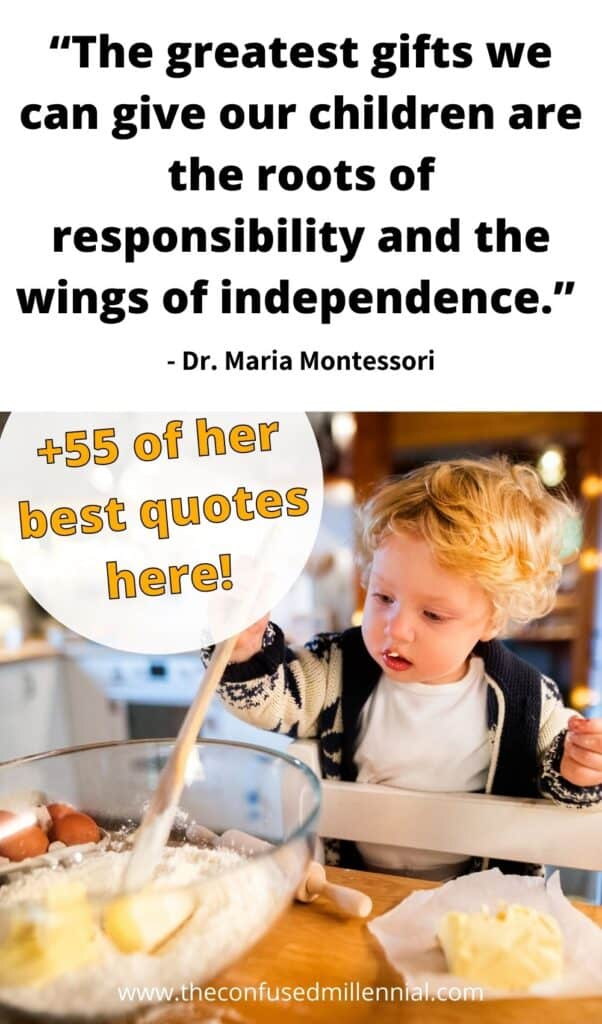 best montessori quotes for parents practicing montessori philosophy at home or wanting to learn more about the montessori method