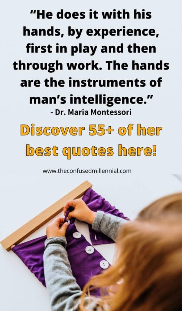 best maria montessori quotes for parents