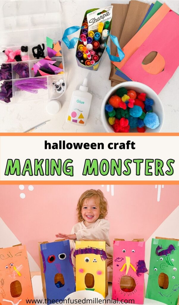 Montessori glue box inspired Halloween craft for toddlers and preschoolers that montessori at home families can do this Spooky Season!