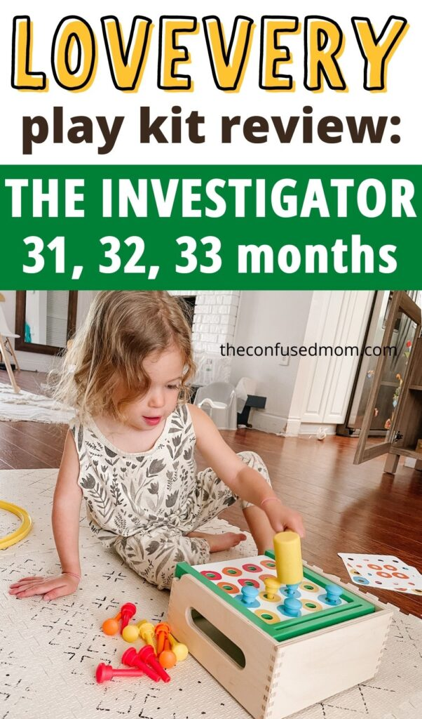 Wondering if the lovevery play kit the investigator is worth it? I'm sharing how the montessori inspired toy subscription service financially compares to dupes on Amazon, whether or not my toddler enjoyed the wooden toys, and more!