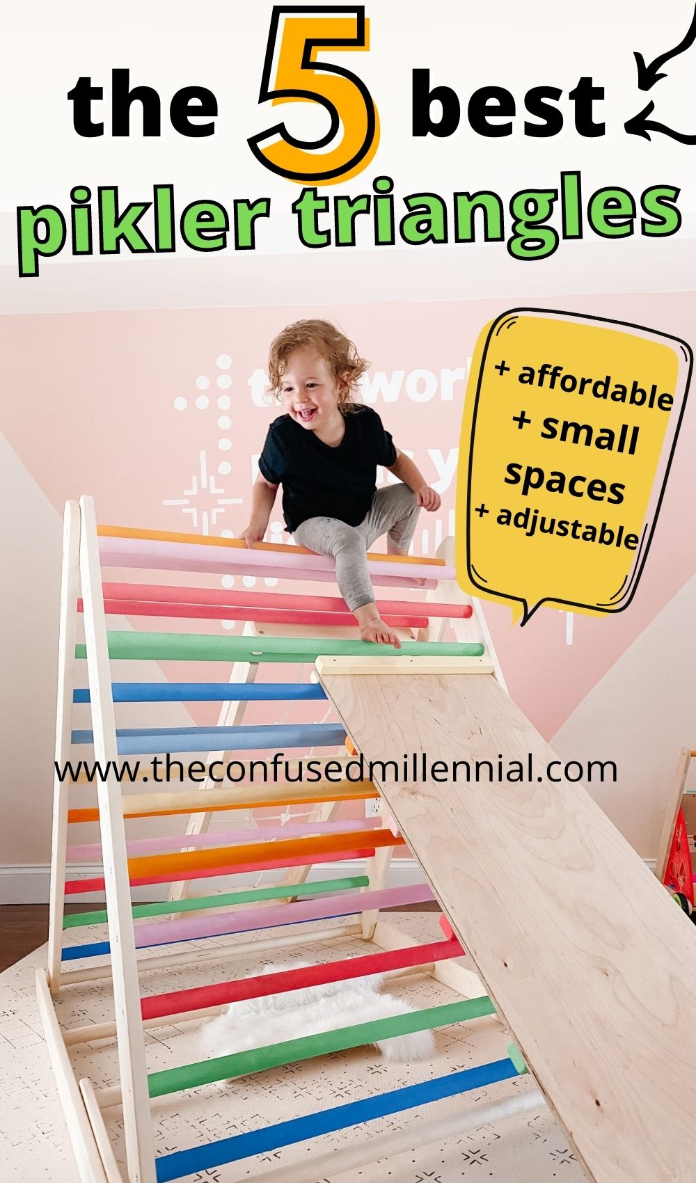 Discover the best pikler triangles for small spaces, affordable, indoor and outdoor use, foldable, and adjustable. Plus recommendations for pikler climbing arch and pikler climbing triangle alternatives!